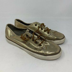 Sperry Seacoast Metallic Python Embossed Shoes 7